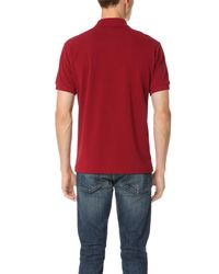 Lacoste - Pink Short Sleeve Classic Polo Shirt for Men - Lyst