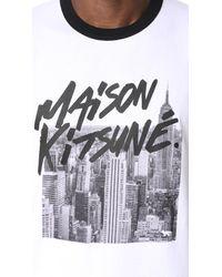 Maison Kitsuné - White Skyline Tee for Men - Lyst