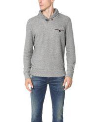 Billy Reid | Multicolor Shiloh Shawl Pullover for Men | Lyst