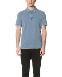 Calvin Klein Jeans - Blue Pique Polo for Men - Lyst