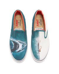 Sperry Top-Sider - Blue Jaws Shark Attack Slip Ons for Men - Lyst