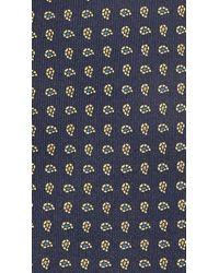 Drake's - Blue Mini Paisley Tie for Men - Lyst