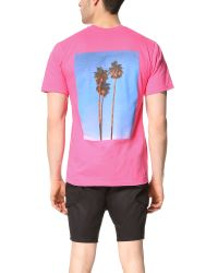 Stussy - Red 3 Palms Tee for Men - Lyst