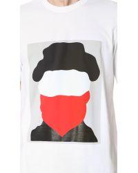 Marni - Black Garment Dye Tee for Men - Lyst