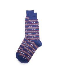 Anonymous Ism   Blue Stripe & Arrow Crew Socks for Men   Lyst