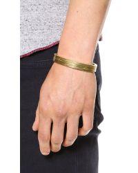 Miansai Metallic Layered Brass Cuff for men