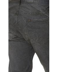 Chimala Multicolor Selvedge Denim Used Ankle Cut Jeans for men