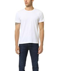 Splendid Mills - White Pigment Dyed Crew Neck Tee for Men - Lyst
