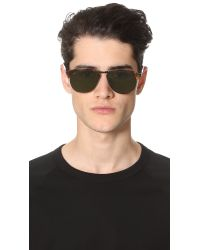 Persol - Brown 56mm Keyhole Sunglasses - Dark Havana for Men - Lyst