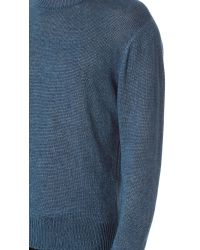 Our Legacy Blue Base Roundneck Hemp Sweater for men