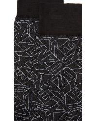 KENZO - Black Flying Logo Socks for Men - Lyst
