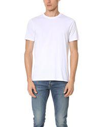 VINCE | White Short Sleeve Pima Crew Neck Tee for Men | Lyst
