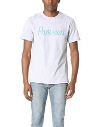 Maison Kitsuné | White 'parisien' Print T-shirt for Men | Lyst