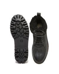 Rag & Bone Black Spencer Leather Duck Boots for men