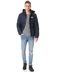 Penfield Blue Bowerbridge Down Insulated Hooded Jacket for men