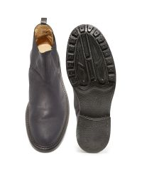 H by Hudson Black H By Hudson Buckley Strap Boots for men