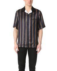 3.1 Phillip Lim Blue Striped Bowler Shirt for men