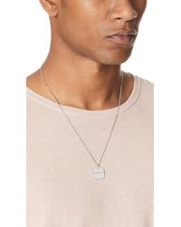 A.P.C. - Metallic Dylan Necklace for Men - Lyst