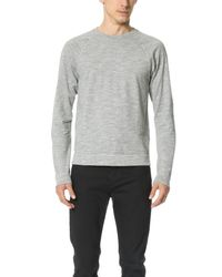 Rag & Bone - Gray T-shirt With Long Sleeves for Men - Lyst