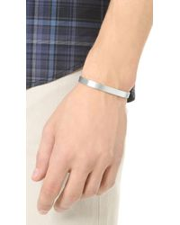 Le Gramme - Metallic Le 21 Grammes Brushed Silver Cuff for Men - Lyst
