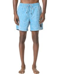 RVCA Blue Fade Elastic Trunks for men