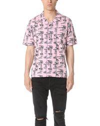 f1377182 Carhartt Wip Short Sleeve Pine Hawaii Shirt in Pink for Men - Lyst