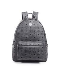 MCM - Gray Stark Medium Backpack for Men - Lyst