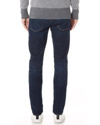 7 For All Mankind Blue Slimmy Clean Pocket Jeans for men