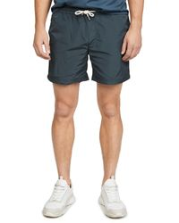 Native Youth Blue Patch Pocket Shorts for men