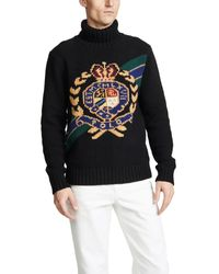 Polo Ralph Lauren Black Crest Roll Neck Knit for men