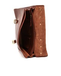 Lotuff Leather Brown Bound-edge English Briefcase for men