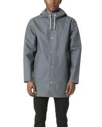 Stutterheim Gray Stockholm Rain Coat for men