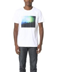 A.P.C. White Gig Graphic Tee for men