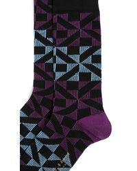 Ted Baker Purple New Home Pattern Socks for men
