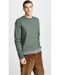 A.P.C. Green Crew Neck Jeremie Sweatshirt for men