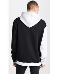 MSGM Black Block Color Sweatshirt for men