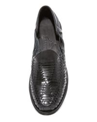 Chamula Black Cancun Huarache Loafers for men