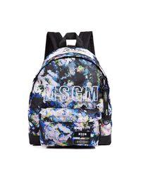 MSGM Multicolor X Eastpak Backpack Printed Flower for men