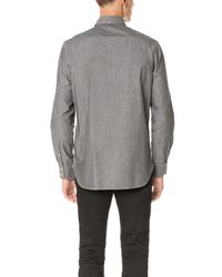 Rag & Bone - Gray Standard Issue Chambray Shirt for Men - Lyst