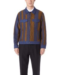 Tomorrowland Blue Blouson Jacket for men