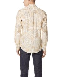 Schnayderman's White Leisure Scout Print Shirt for men