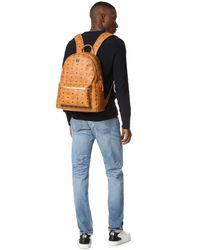 MCM - Brown Stark Medium Coated Canvas Backpack for Men - Lyst