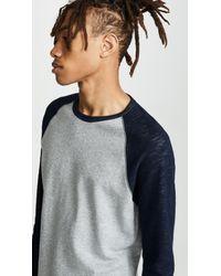 Vince Multicolor Colorblock Double Knit Crew Neck Shirt for men