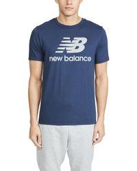 New Balance Blue Reflective Logo T-shirt for men