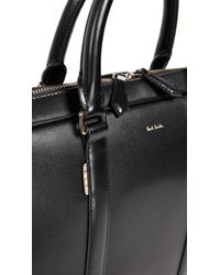 Paul Smith - Black Leather Briefcase for Men - Lyst