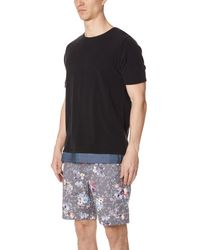 Matiere Black Inglewood Short Sleeve Tee for men