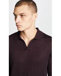 Club Monaco Multicolor Merino Knit Shirt for men