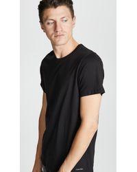 Calvin Klein Black 3 Pack Regular Fit Classic Short Sleeve Tee for men