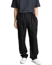 Lemaire - Black Large Elasticated Pants for Men - Lyst