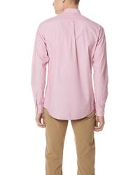 Schnayderman's Red Poplin One Leisure Shirt for men
